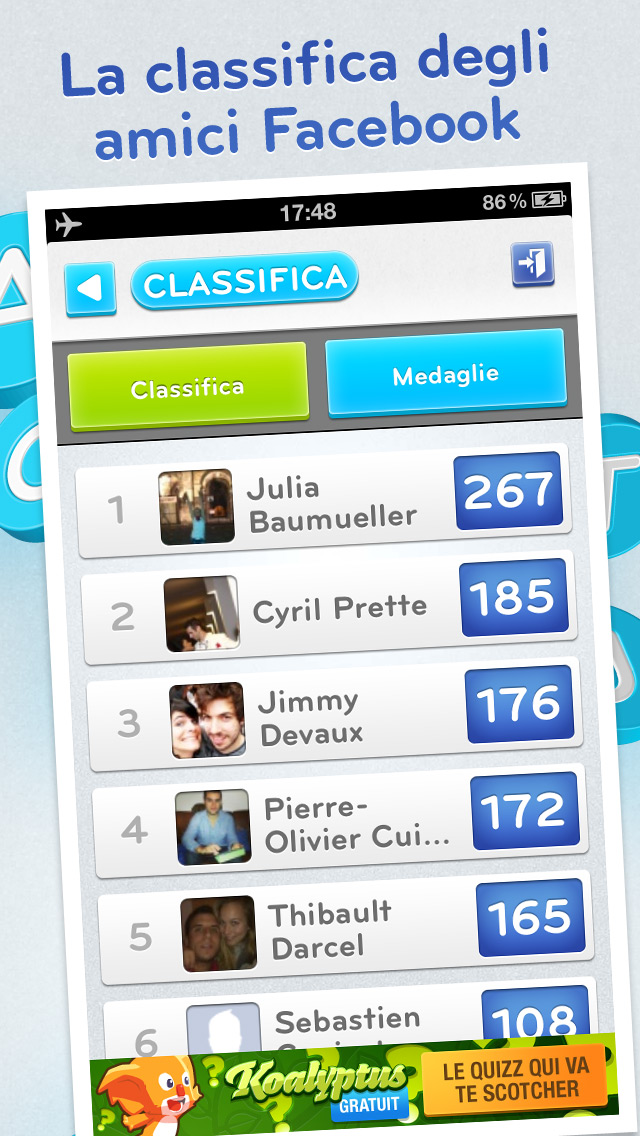 Classifica Facebook